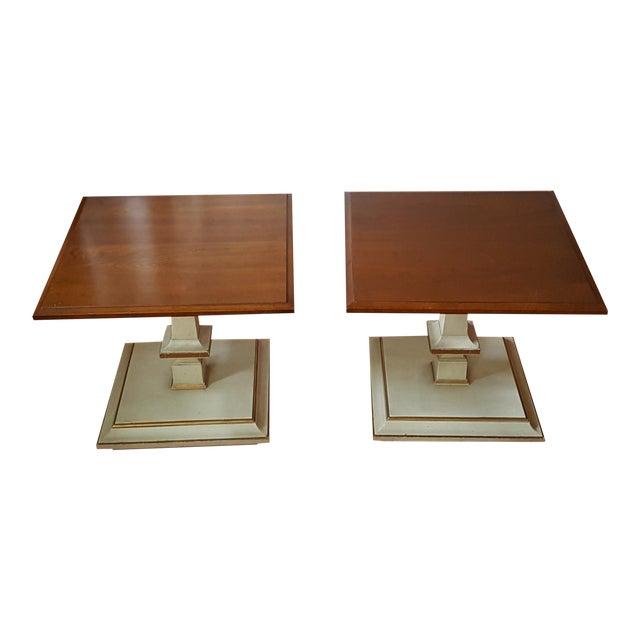 Kindel French Provincial Side/Bunching Tables-Pair - Image 1 of 6