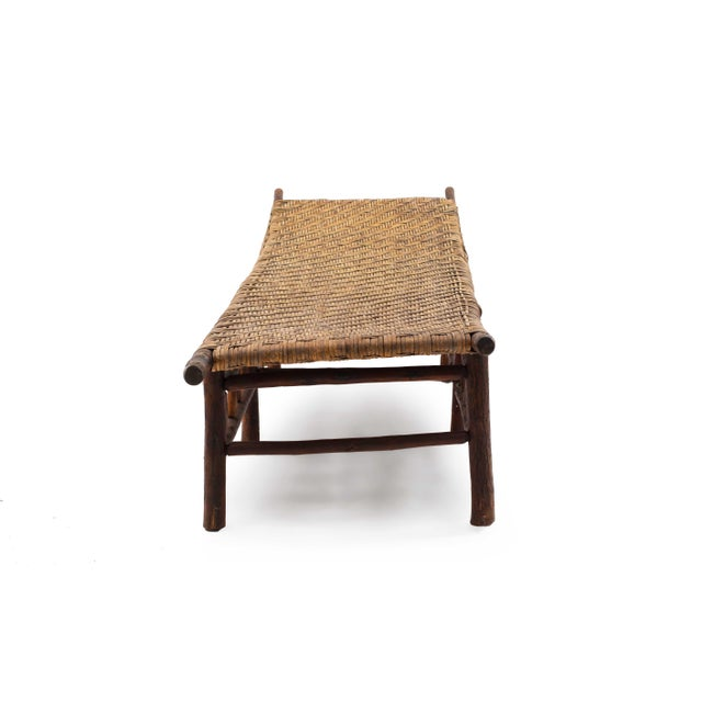Rustic American Rustic Old Hickory Chaise For Sale - Image 3 of 7
