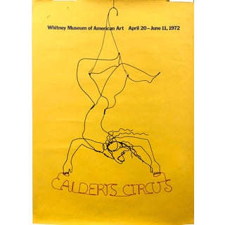 Alexander Calder Exhibition Poster for the Whitney Museum 1972 For Sale