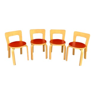 Artek Alvar Aalto N65 - Childrens Chair - Set of 4 For Sale