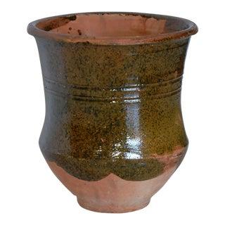 Vintage Turkish Olive Jar Planter For Sale