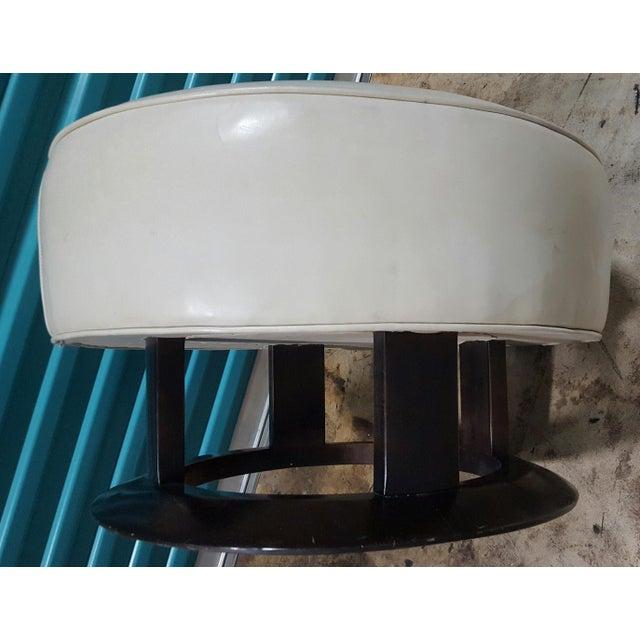 Animal Skin Swaim Leather Swivel Chair & Ottoman For Sale - Image 7 of 7
