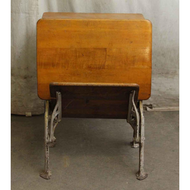 Victorian Vintage Folding School Row Desk For Sale - Image 3 of 6