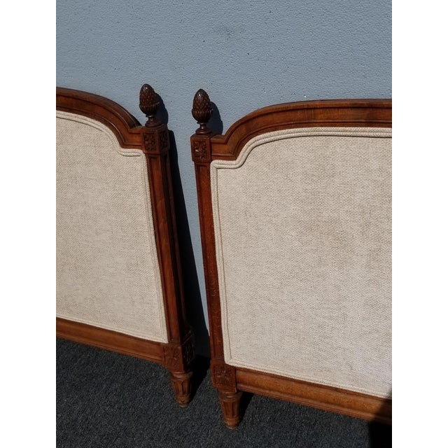 Pair of Vintage French Country Tan Twin Headboards Low Profile For Sale - Image 9 of 13