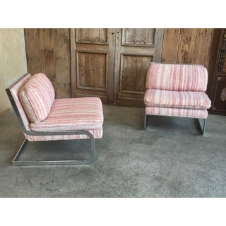 Mid-Century Modern Chrome Cantilever Lounge Chairs - a Pair Preview