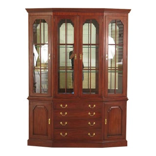 Henkel Harris Cherry 4 Door Breakfront China Cabinet