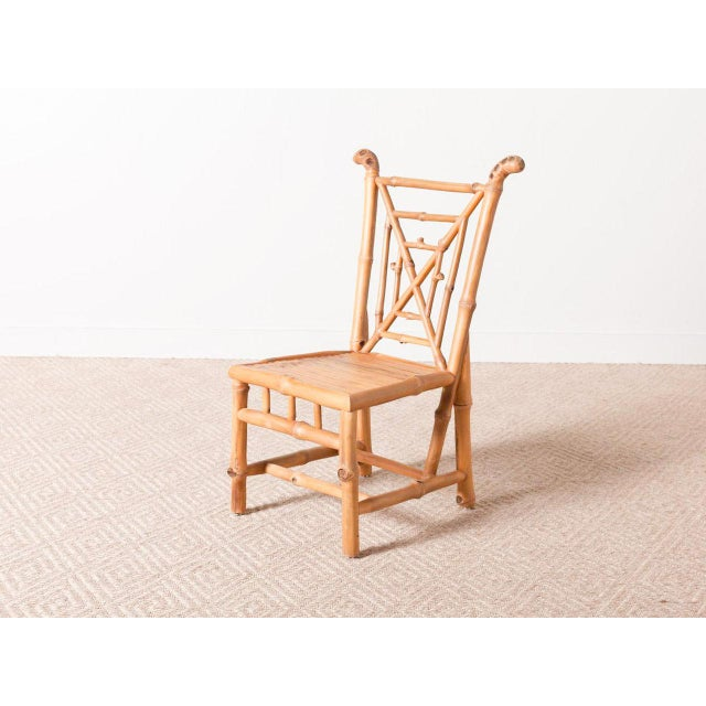 Bamboo Side Chair For Sale - Image 6 of 6