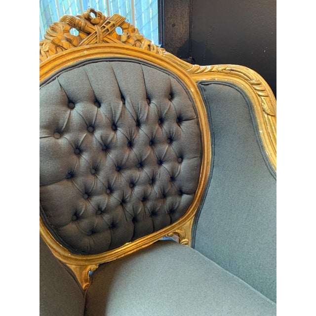 1900s Baroque Tufted Chair For Sale In San Francisco - Image 6 of 8