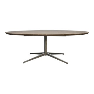 Travertine Eliptical Dining Table or Desk by Florence Knoll