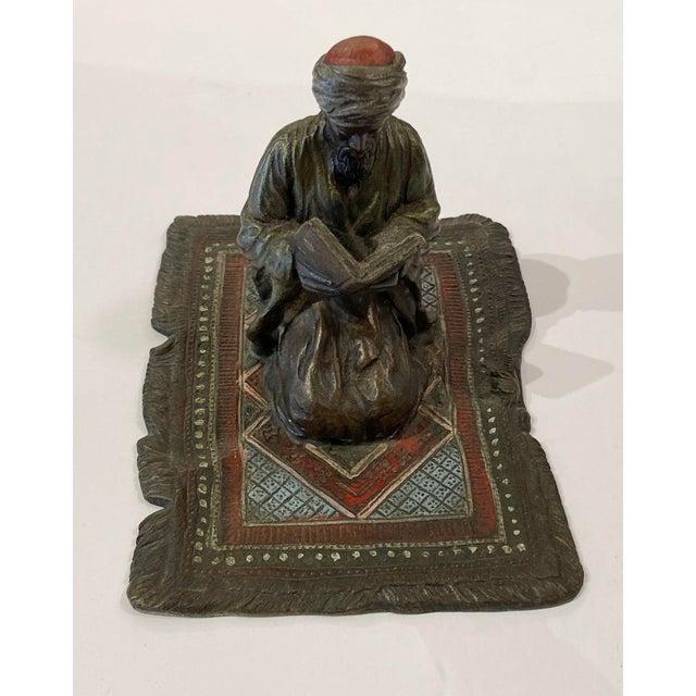 Metal Franz Bergman Austrian Bronze Reading Figure For Sale - Image 7 of 8