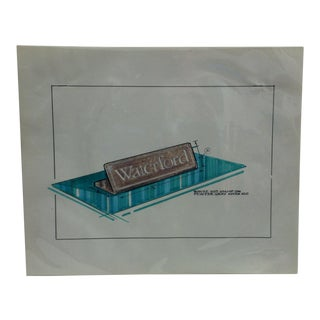 """1980s """"Waterford - Pewter Gray"""" Displayco East Original Advertising Drawing For Sale"""