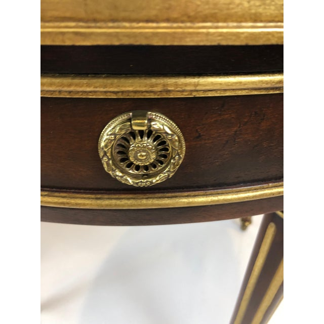 Round Regency Style Side Table With Bronze Mounts For Sale - Image 10 of 13