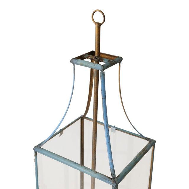 Large Rectangular Iron Lantern For Sale - Image 4 of 6