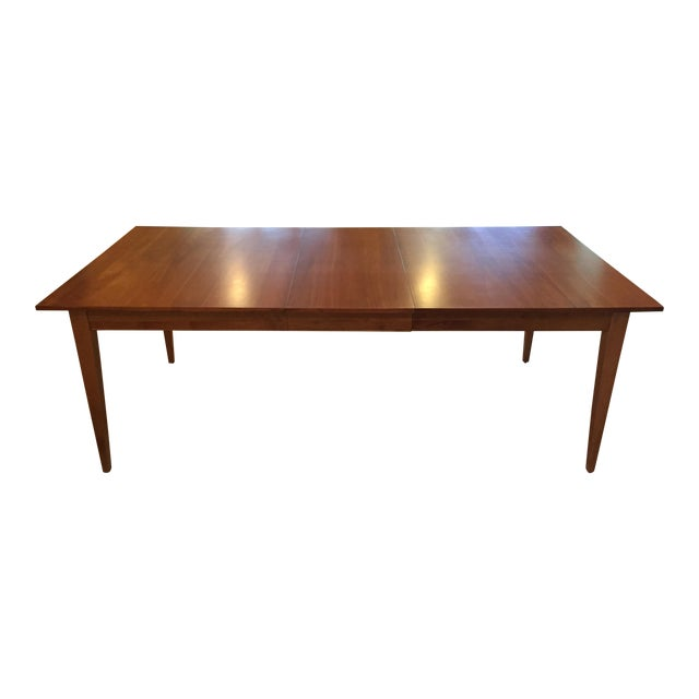 Ethan Allen New Impressions Dining Table With 2 Leaves For Sale