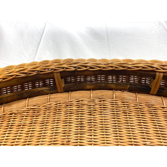 1960s Queen Size Wicker Headboard For Sale - Image 12 of 13