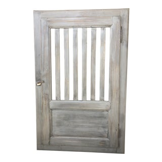 Late 19th Century French Slat Door For Sale