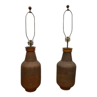 Mid-Century Modern Bitossi Ceramic Lamps - a Pair For Sale