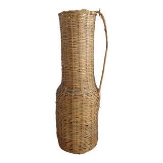 Vintage Wicker Jug Shape Basket