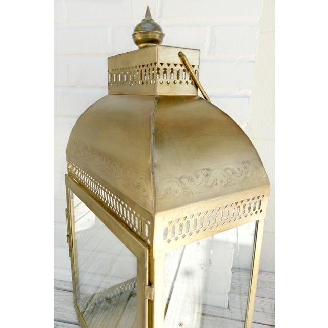 Large Brass Lantern - Image 3 of 4