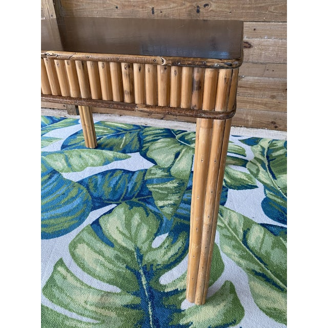 1950s Vintage Split Bamboo Table For Sale - Image 5 of 13