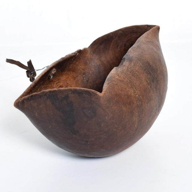 Antique African Tribal Art Hand-Carved Wood Bowl For Sale - Image 4 of 11