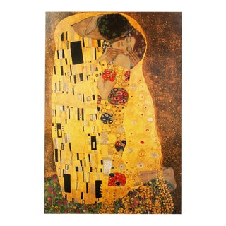 "1994 Gustav Klimt, ""The Kiss"" First German Edition Large Poster For Sale"