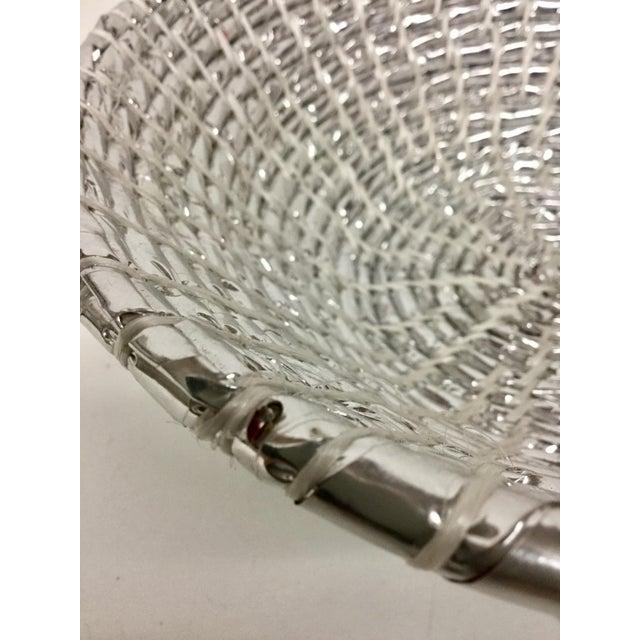 Modern Artisan Hand Woven Repurposed Plastic Basket For Sale In Boston - Image 6 of 11