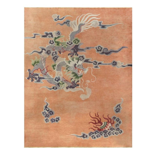 Textile Antique Silk Chinese Rug For Sale - Image 7 of 7