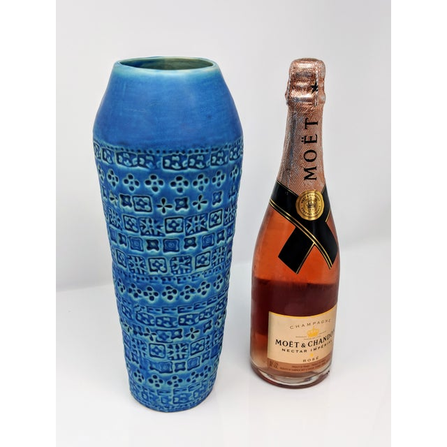 African Tribal Inspired Embossed Vase For Sale - Image 3 of 13
