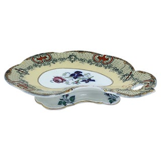 Antique English Footed Serving Dish For Sale