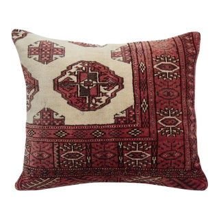 Turkoman Rug Pillow Cover For Sale