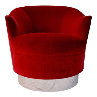 Swivel Chair In The Style of Karl Springer For Sale