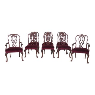 Set of 8 Karges Georgian Style Clawfoot Dining Room Chairs For Sale