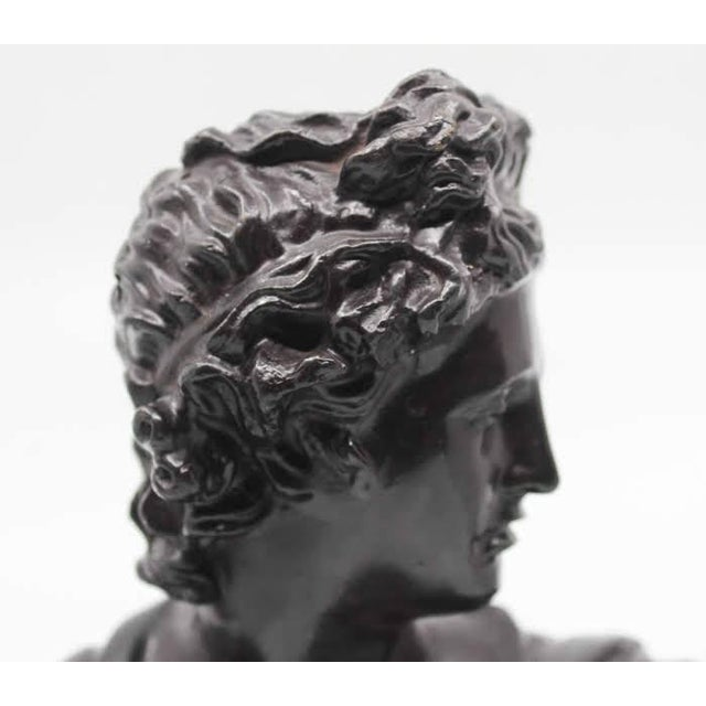 Early 20th Century Maitland-Smith Bronze Roman Male Bust Sculpture For Sale - Image 5 of 13