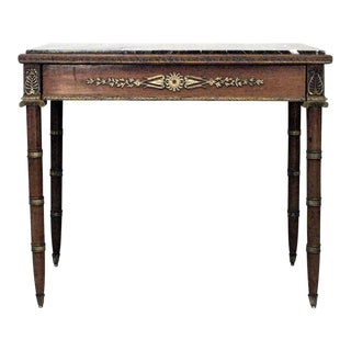 French Empire Style '19th Century' Mahogany and Bronze Trimmed Table For Sale