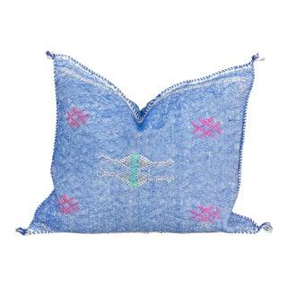 Jalanili Lumbar Moroccan Silk Rug Pillow For Sale