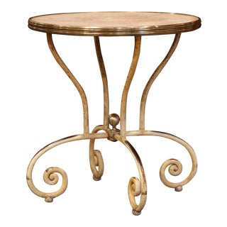 19th Century Napoleon III French Iron and Wood Gueridon Pedestal Table For Sale