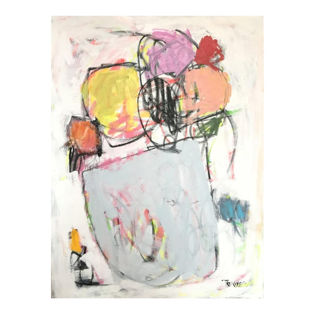 Scrappy Flowers No. 2 Contemporary Painting For Sale