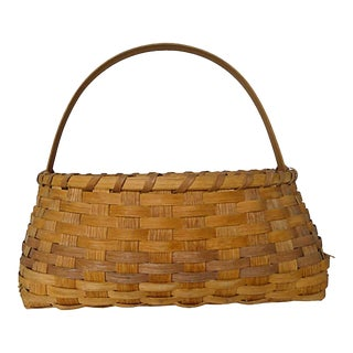 Vintage Handmade by Artist J.Jordan Country Basket For Sale