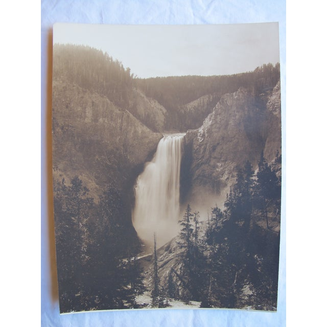 "Antique ""Yellowstone Falls"" Photograph - Image 3 of 3"
