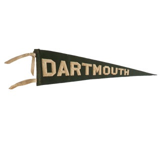 Antique Dartmouth College Felt Flag Pennant For Sale