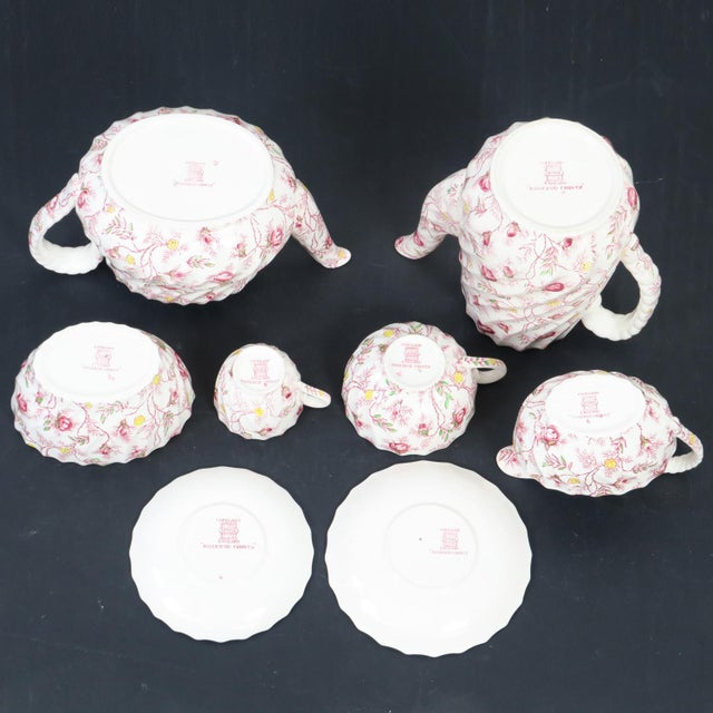 Copeland Vintage Copeland Spode Rosebud Chintz China Dinnerware Set - 124 Piece Set For Sale - Image 4 of 13