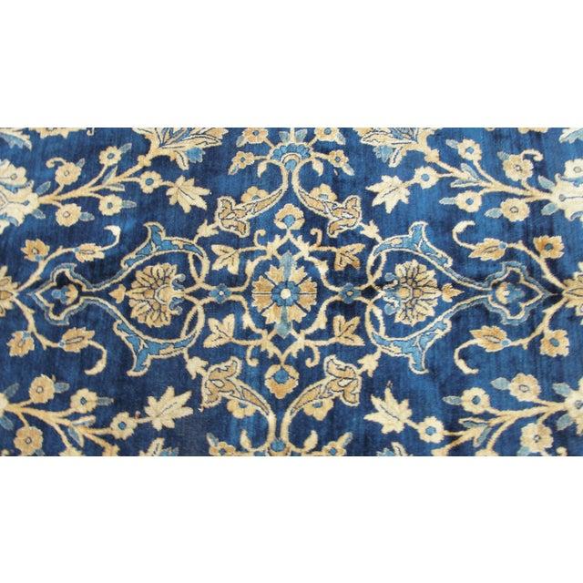 """Textile Antique Persian Laver Kerman Carpet, 8'5"""" X 11'7"""" For Sale - Image 7 of 9"""
