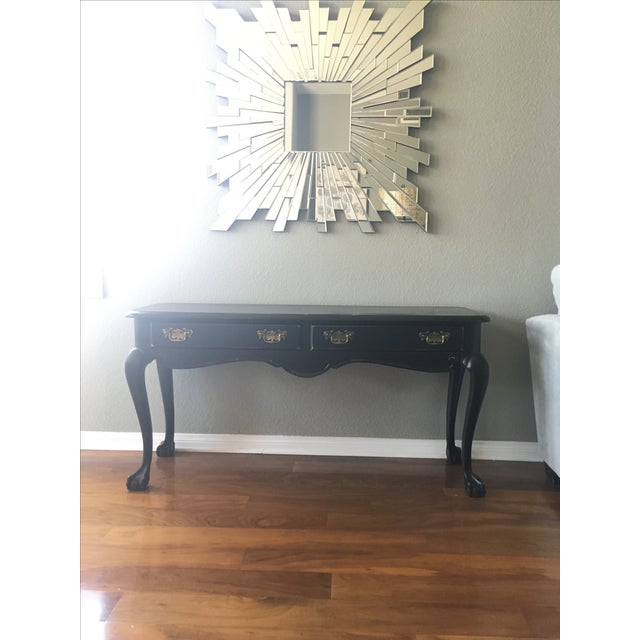 Antique Inspired Black Console Table - Image 2 of 9
