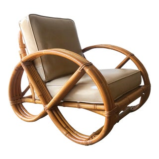 Vintage Calif-Asia 3-Band Pretzel Rattan Chair