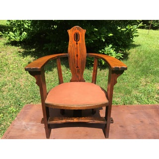 1890 Arts and Crafts Turtle Neck Barrel Chair Preview