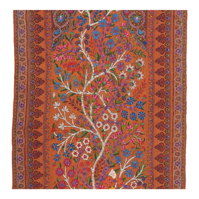 An absolutely rapturous piece of woven art form the city of Kerman in Southeast Iran, this piece features two intertwined...