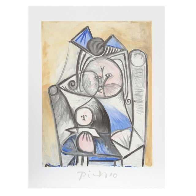 Pablo Picasso - Fillette a La Poupee Estate Litho For Sale