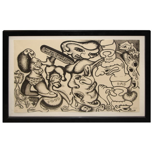 Black Peter Saul Lithograph Numbered 1/10 and Signed For Sale - Image 8 of 8
