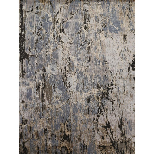 Modern Abstract Handwoven Rug - 8′11″ × 11′11″ -- 108733 For Sale